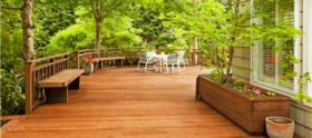Residential decks for homes