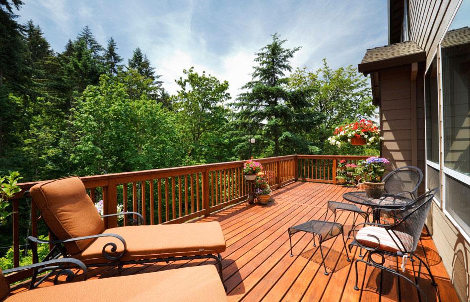 Beautiful Backyard Decks : Maintenance Free Decks Wooden Decks Deck Design Deck Piles